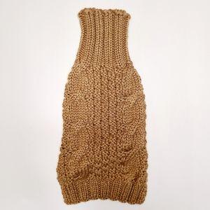 100% Wool Dog Sweater Handknit Small New